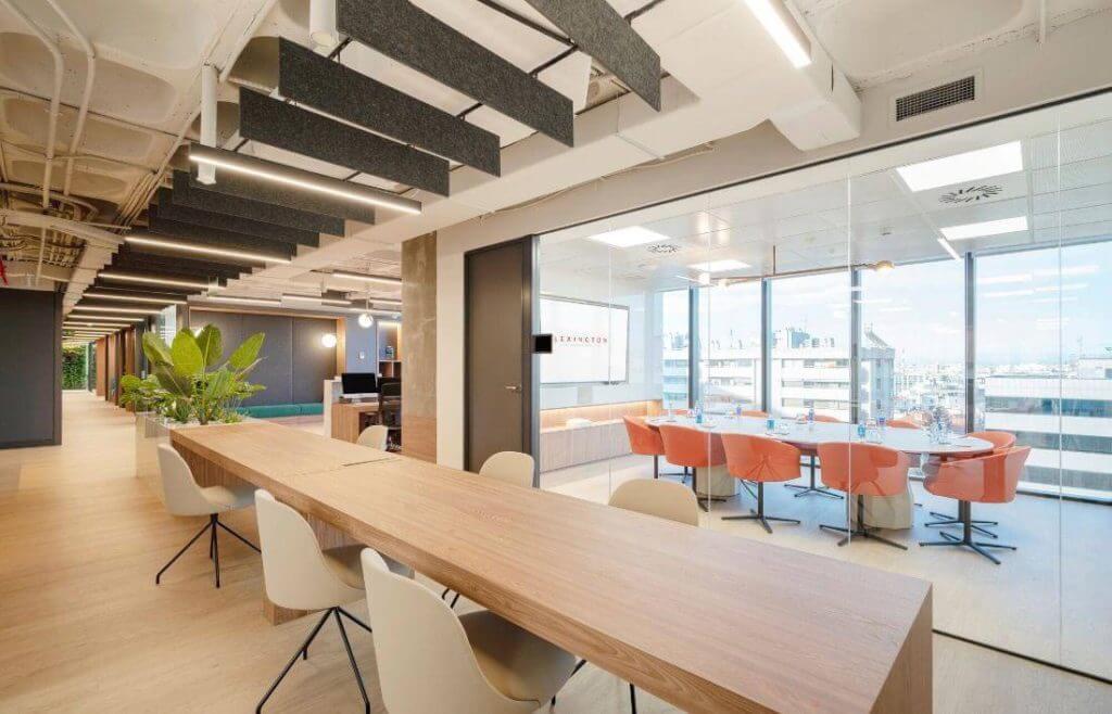 espacios de trabajo abiertos en centro de negocios principe de vergara